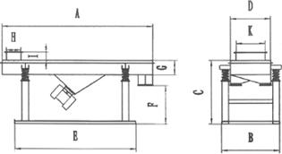 直线振动筛外形图1